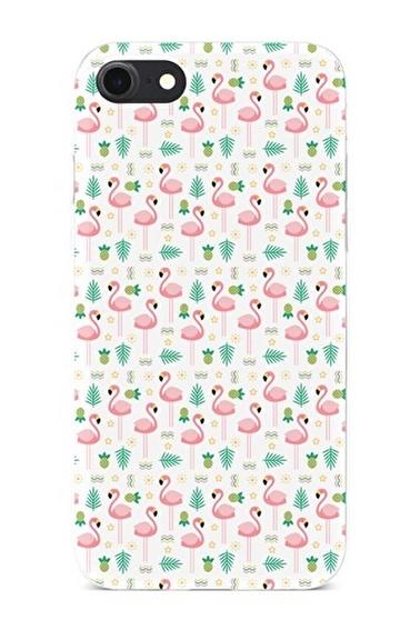 Lopard Apple İphone 8 Kılıf Tropik Flamingo Kapak Renkli